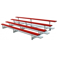 4 Row, 15' STANDARD Low Rise Powder Coated Bleacher, TR0415C