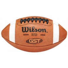 Wilson Pop Warner GST TDJ Official Leather Football, age 9-12