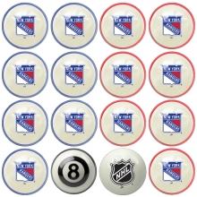 New York Rangers NHL Home vs Away Billiard Ball Set