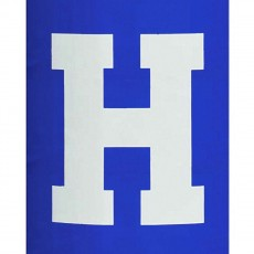 Fisher 1 COLOR Traditional Vinyl Lettering for Football Goal Post Pads