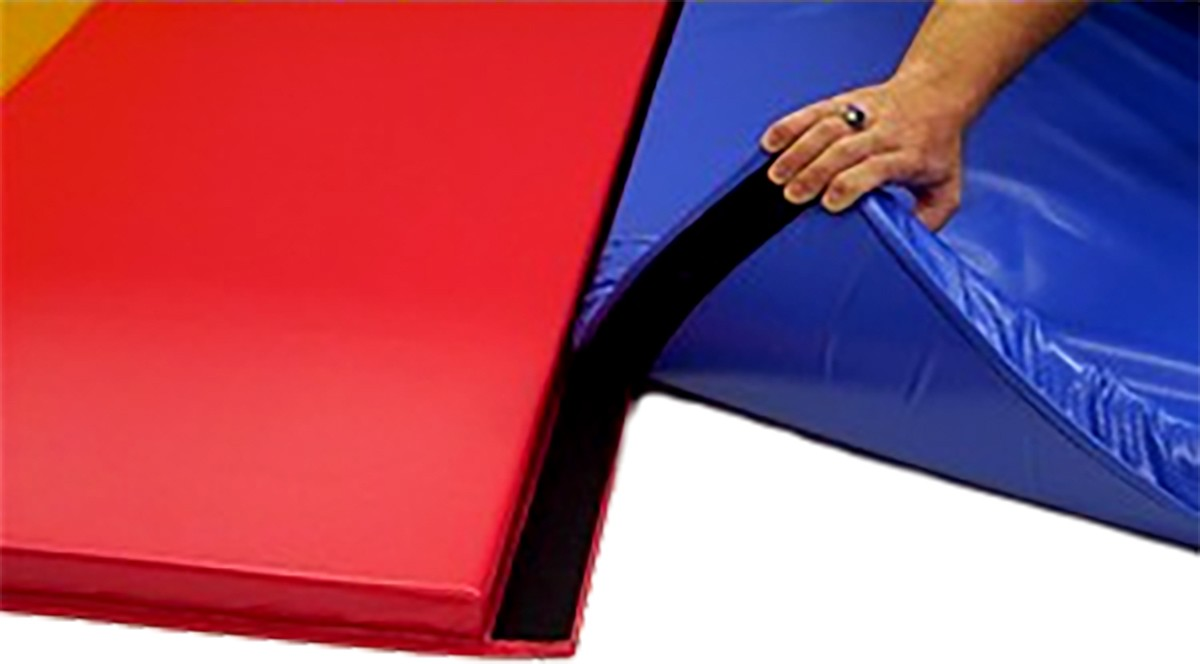 sell we gymnastics dp inch mat mats fasteners gym tumbling exercise velcro folding thick