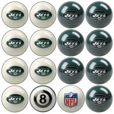 New York Jets NFL Home vs Away Billiard Ball Set