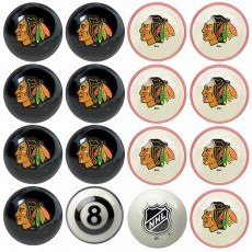 Chicago Blackhawks NHL Home vs Away Billiard Ball Set