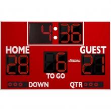 Sportable Scoreboards 7150 Football Scoreboard, 8'W x 5'H