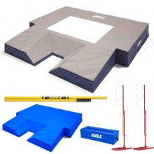 "Gill S1 20' x 20'2.5"" x 28"" Pole Vault Pit Value Pack, VP65417"