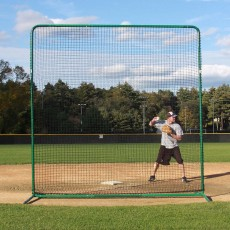 ProMounds Deluxe Baseball/Softball Protective Screen Frame & Net, 10' x 10'