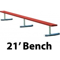 Aluminum Player Bench, Powder Coated, PORTABLE, 21'