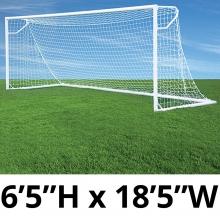 Jaypro 6.5' x 18.5' Round Nova Club Goals, RCG-18S (pair)