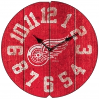 Detroit Red Wings Vintage Round Clock