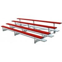 4 Row, 15' STANDARD Low Rise Powder Coated Bleacher