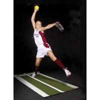 Jennie Finch MP3010 Pitching Lane Pro Softball Turf Pitching Mat