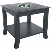 New York Jets NFL Hardwood Side/End Table