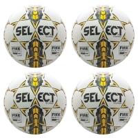 Select NJCAA Super FIFA Match Ball Pkg, White, set of 4