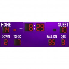 Sportable Scoreboards 7424 Football Scoreboard, 24'W x 8'H