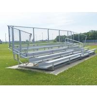 5 Row, 15' DELUXE Aluminum Bleacher, w/ VERTICAL RAIL
