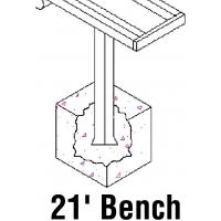 Jaypro PB-5PI Aluminum Player Bench, PERMANENT, 21'