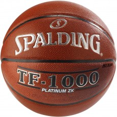 Spalding TF-1000 Platinum ZK Official Men's Basketball, 29.5