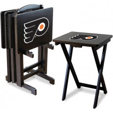 Philadelphia Flyers NHL TV Snack Tray/Table Set