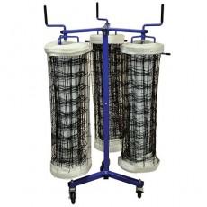 Jaypro VNK33 Volleyball Net Storage Cart, TRIPLE