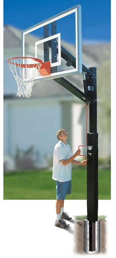 Bison Ba8300 Bk 4 Zip Crank Residential Basketball Hoop