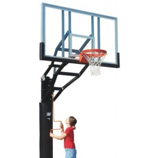 Bison PR98G-BK 6'' Adjustable Glass Basketball Hoop