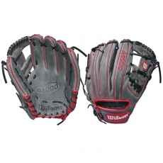 "Wilson 11.5"" A1000 Grey w/ Red Baseball Glove, WTA10RB181786"