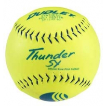 Dudley Thunder SY 40/325 USSSA Synthetic Slowpitch Softball, 12""