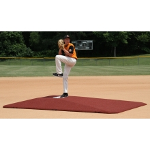"Proper Pitch 108004TC Tapered Game Mound, 10""H x 11'6""L x 8'3""W, Clay"