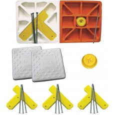 """Soft Touch S15DBL-SET 15"""" Spike-Down Base Set w/ Double First Base"""