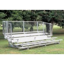 5 Row, 15' PREFERRED Aluminum Bleacher w/ Vertical Rail