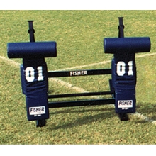 Fisher CL2T JV Football Blocking Sled - T PAD, 2 MAN