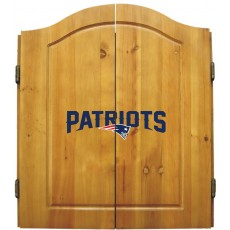 New England Patriots NFL Dartboard Cabinet Set