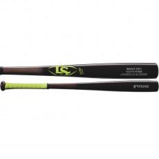 Louisville Slugger Y271 Youth Prime Maple Wood Baseball Bat, Black/Neon, WTLWYM271B17+G
