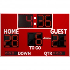 Sportable Scoreboards 7150 Football Scoreboard, 8'W x 5'H
