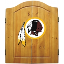 Washington Redskins NFL Dartboard Cabinet Set