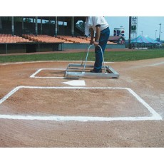 White Line 1591 E-Z Softball Batter's Box Chalker Template, Softball, 3' x 7'