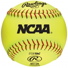 "Rawlings 12"" NC12S Fastpitch Soft Core Training Softballs, dz"