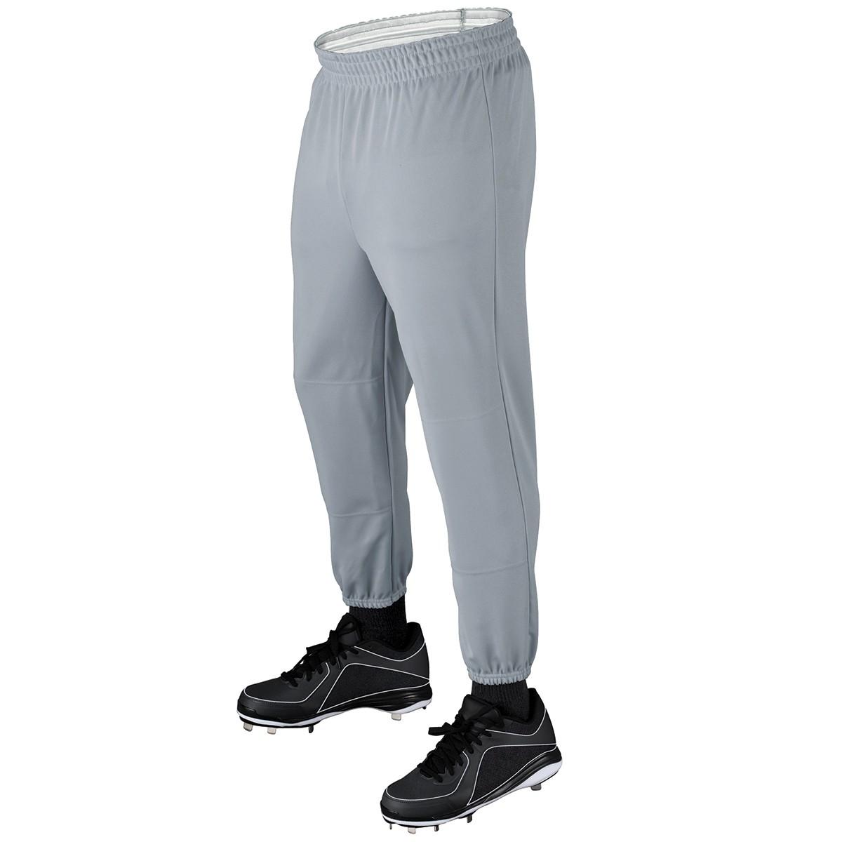Wilson Elastic Waist Baseball Pants Adult Gray