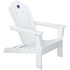 Dallas Cowboys NFL Folding Adirondack Chair, WHITE