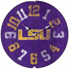 Vintage Round Clock, LSU, Tigers
