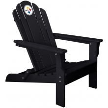 Pittsburgh Steelers NFL Folding Adirondack Chair, BLACK