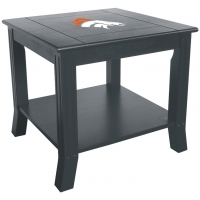 Denver Broncos NFL Hardwood Side/End Table