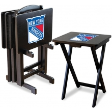 New York Rangers NHL TV Snack Tray/Table Set