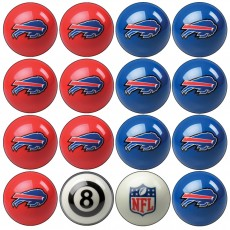 Buffalo Bills NFL Home vs Away Billiard Ball Set