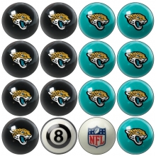 Jacksonville Jaguars NFL Home vs Away Billiard Ball Set