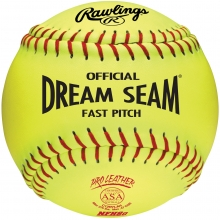 "Rawlings 12"", 47/375 Dream Seam Leather Fastpitch Softballs, C12RYLAH, dz"
