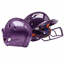 Schutt Air-5.6PT FITTED Ponytail Batting Helmet, w/ Attached Faceguard, MOLDED