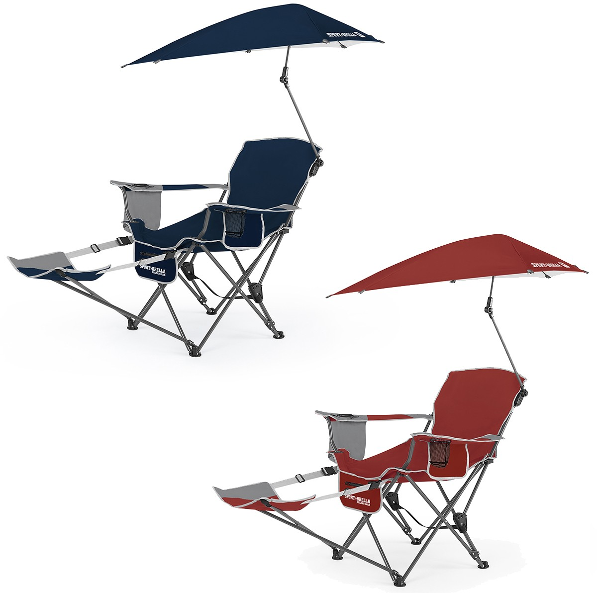 Sklz Sport Brella Recliner Folding Chair W Umbrella Footrest