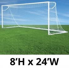 Jaypro 8' x 24' Round Nova Club Goals, RCG-24S (pair)