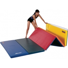 """Gymnastics Mat, 2-1/4"""" Foam, 4' x 8', 2 Velcro Ends"""